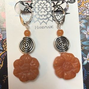 Casey Keith Design Jewelry - Floral Silver Spiral Earrings